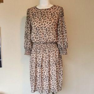 BOBEAU Animal Print Dress